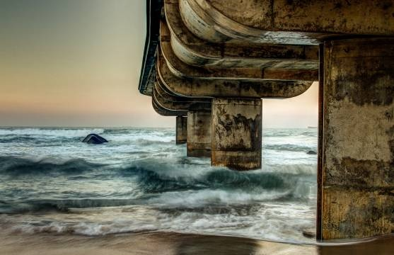 'Umhlanga Rocks Pier' by Neville Bailey