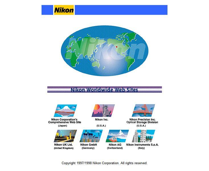 Nikon website in 1998