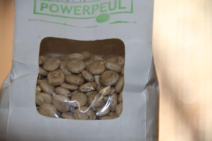 """Witte Lupinebonen. Van vrienden kreeg ik een zakje witte Lupinebonen en daar had ik nou nog nooit van gehoord. In Nederland worden ze nu geteeld door het bedrijf """"Powerpeul"""", geheel biologisch (www.powerpeul.nl). Ik..."""