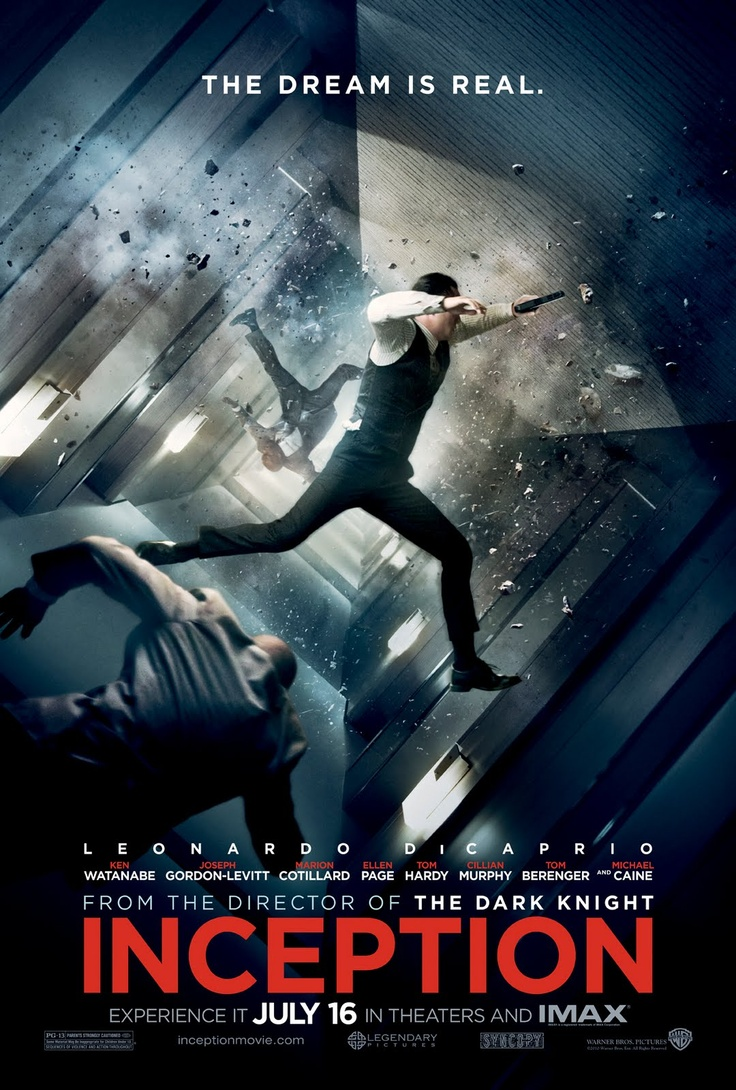 By far, this is my favorite poster for Inception. If I knew nothing about the movie beforehand, i would be sold just by this poster.