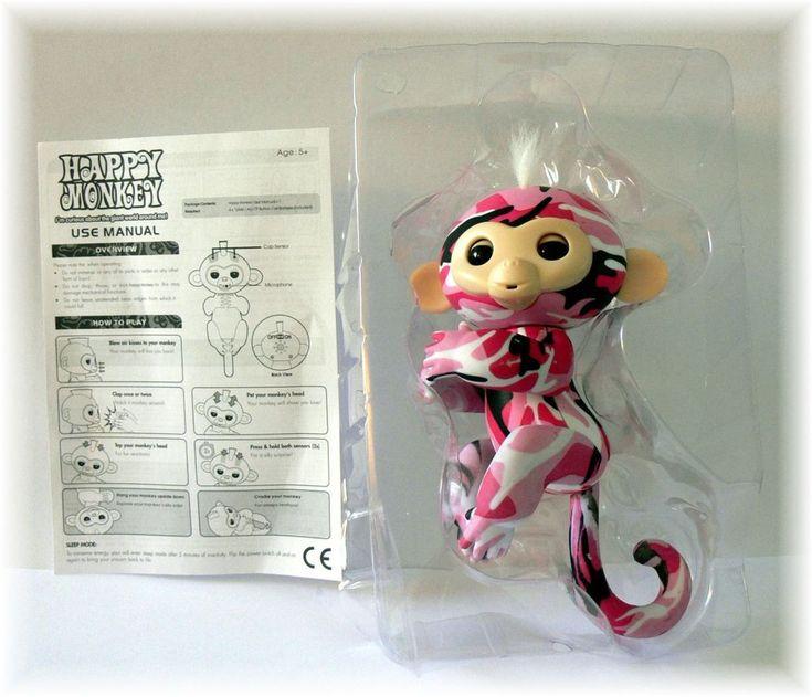 Pink Camouflage Happy Monkey(Fingerlings)  Cute! #HappyMonkey
