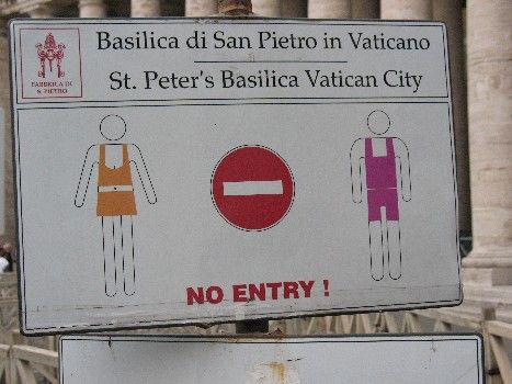 What to Wear and What NOT to Wear in Churches in Italy
