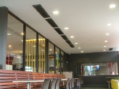 HeatStrip Heaters Slush Mounted, Installed, Radiant Panel Heaters, Electric  Heaters, Outdoor Heaters