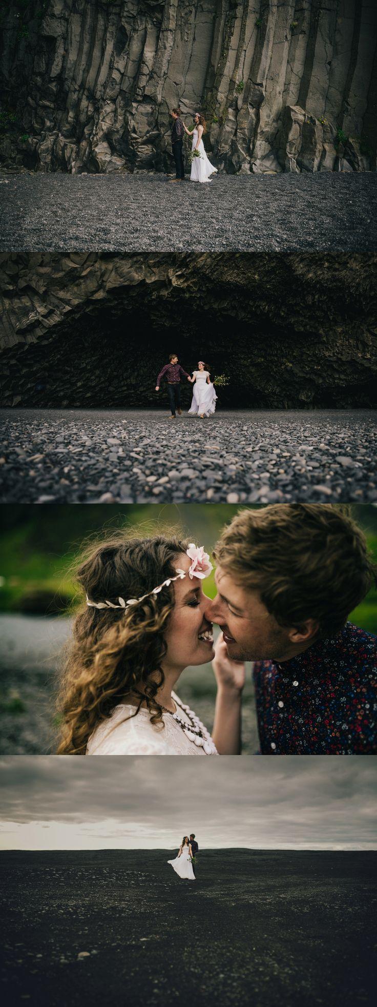 Iceland Elopement - Wear Your Love - Charis Rowland Photography - black sand beach - Vik