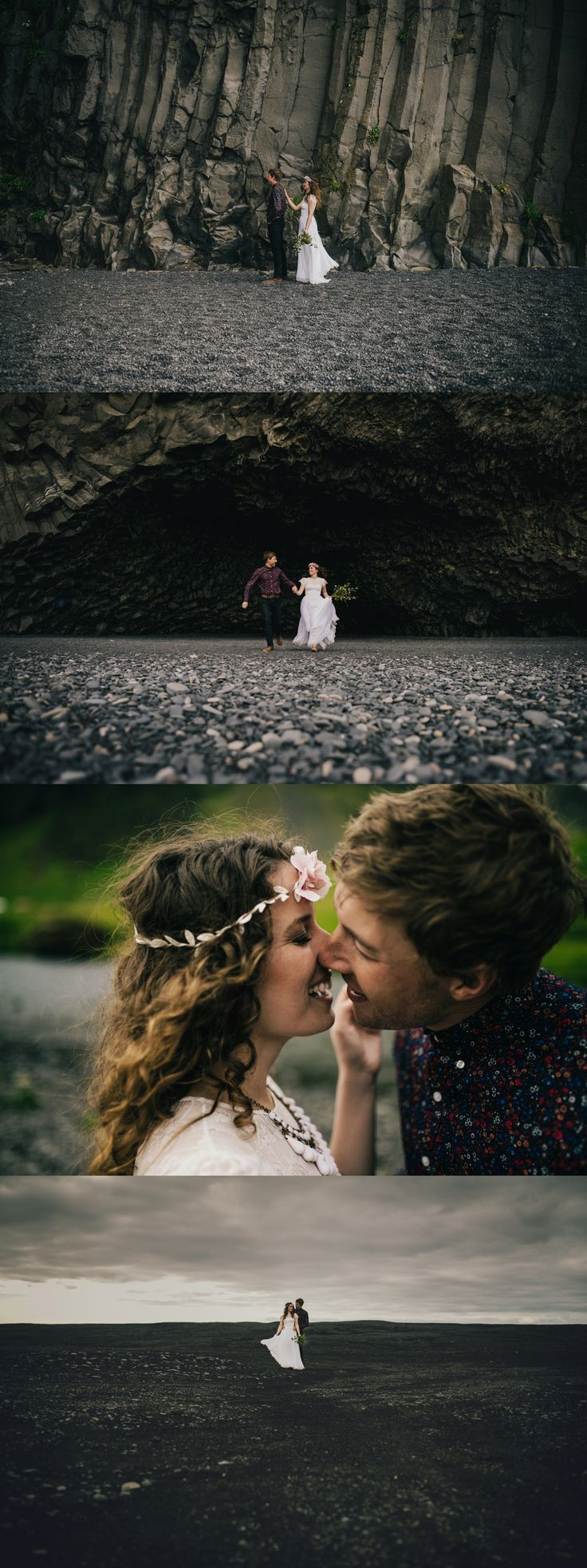 Iceland Elopement - Wear Your Love - Charis Rowland Photography - black sand beach - Vik