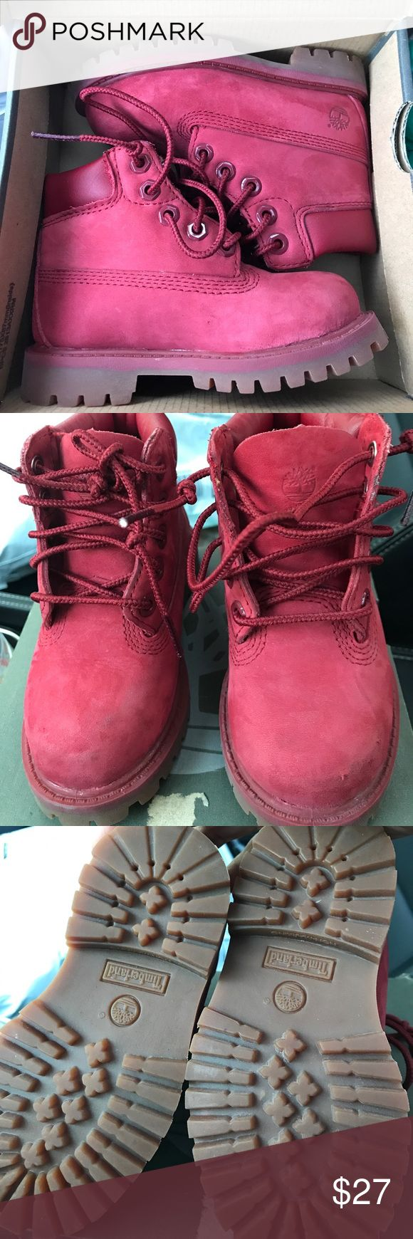 Timberlands toddler boots Unisex timbs  size 7. Great for very cold snowy days. Little wear as shown in pics Timberland Shoes Boots