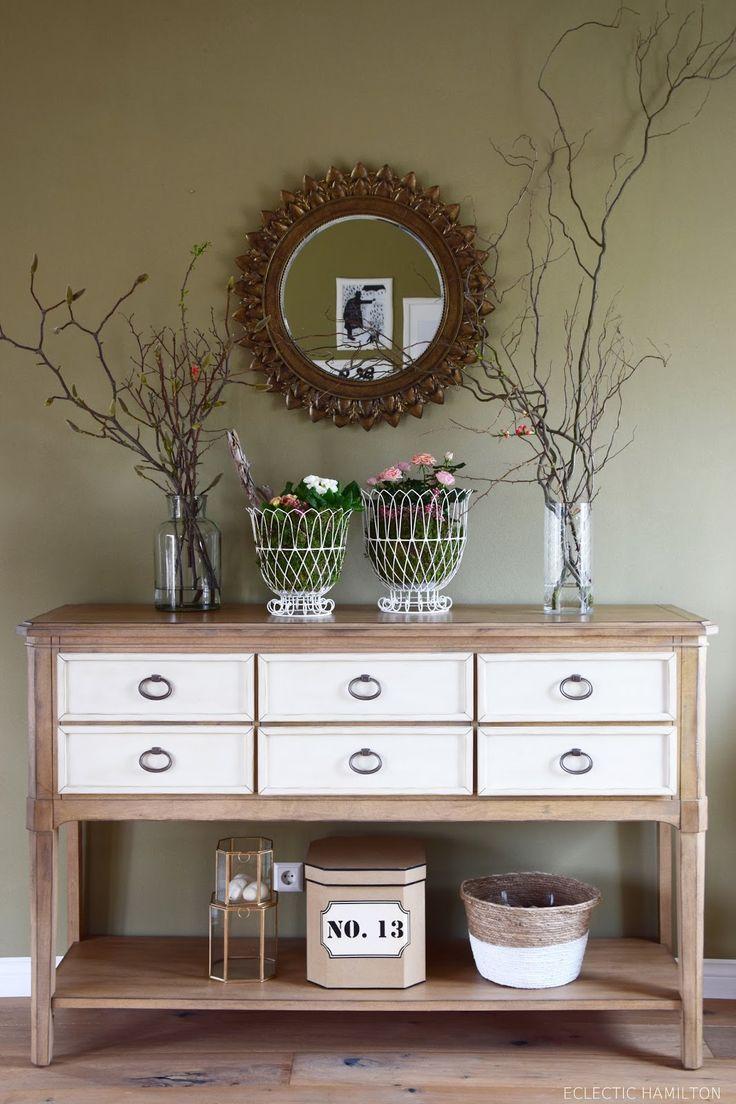 357 besten deko f r sideboard und konsole bilder auf pinterest mein haus spiegel und bastelei. Black Bedroom Furniture Sets. Home Design Ideas