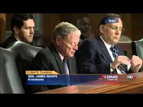 Bernie Sanders challenges Jim Inhofe on Climate Change! Mr. Inhofe denies the climate change science findings and mocks the climate science community consensus.