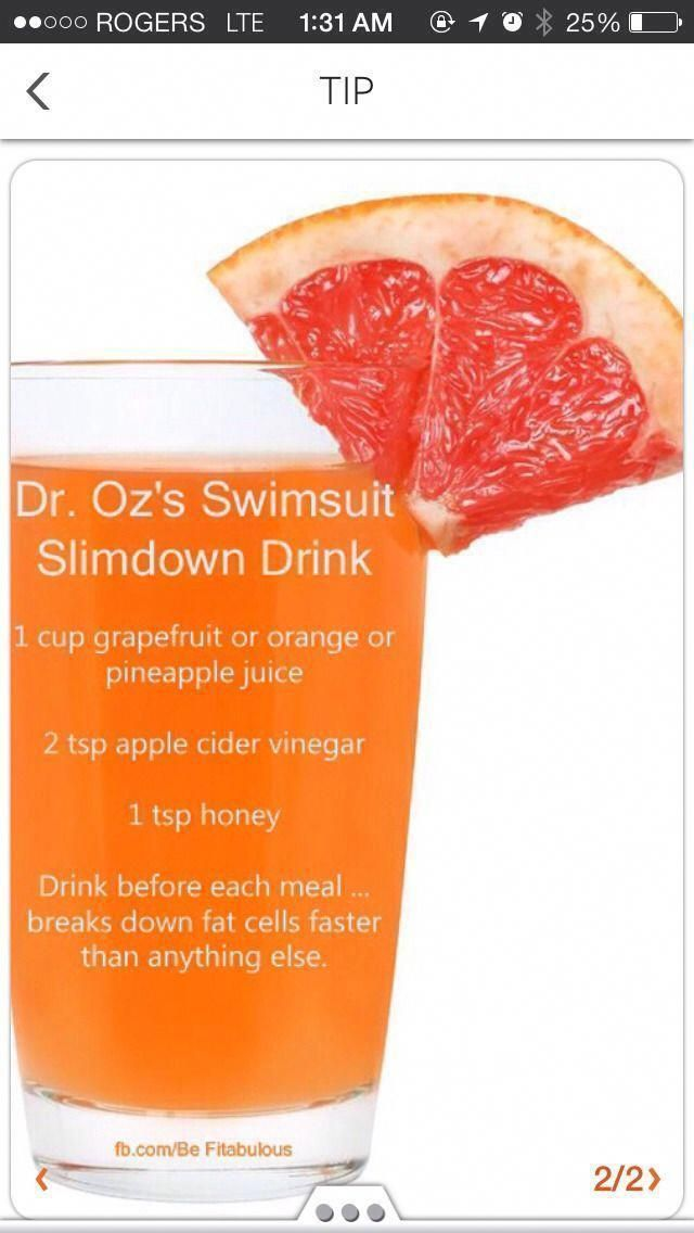 Dr. Oz'S Swimsuit Slimdown Drink Dr. Oz'S 2 Week Rapid Weight Loss Plan Dr Oz 10…