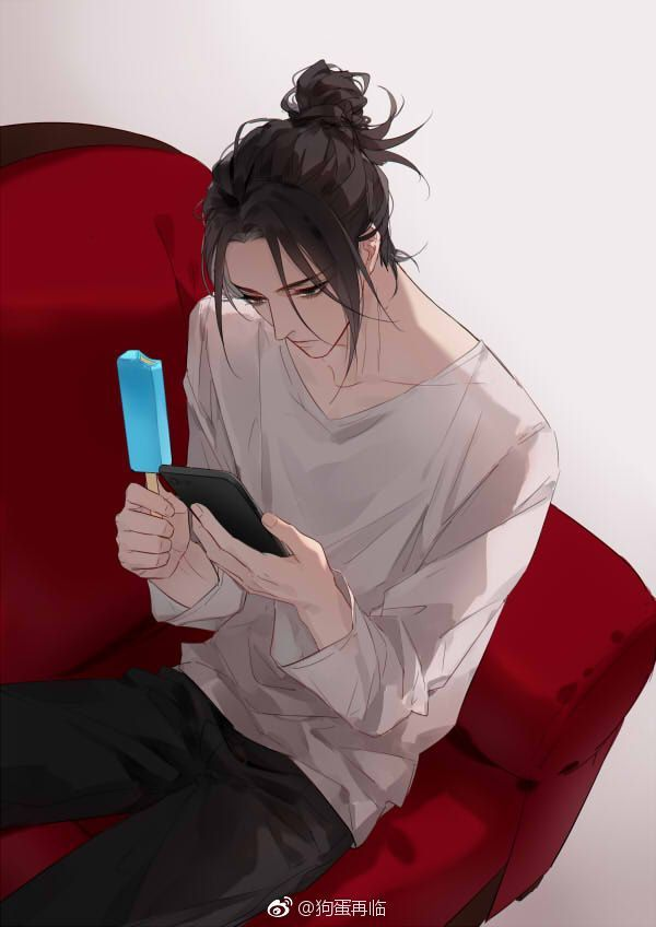 Sshh He S Busy Handsome Anime Anime Boy Anime Guys