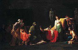Pintura neoclásica - Jean-François Peyron: Cornelia, madre de los Gracos, 1781.