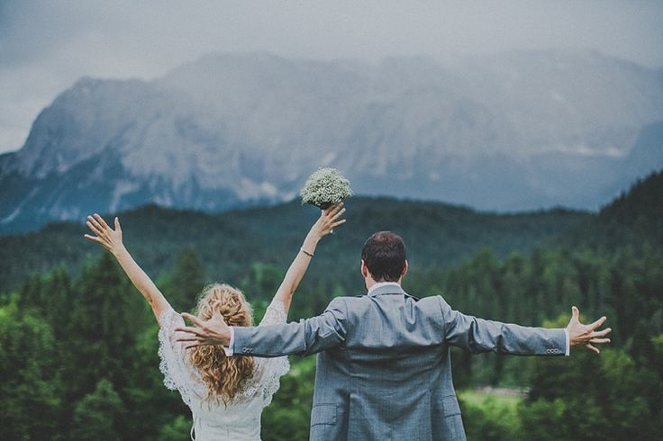 This couple's Bavarian Alps destination wedding took place in one of the most scenic locations, but also looks like one of the most fun celebrations ever!
