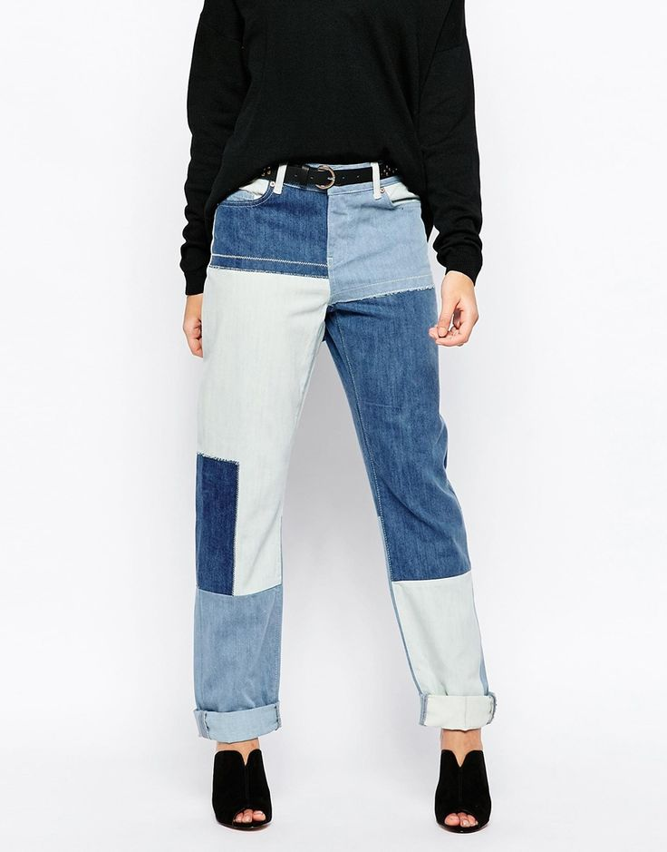 Noisy May Kim Loose Patchwork Jeans