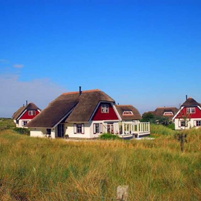 Ameland, Netherlands homes on the beach