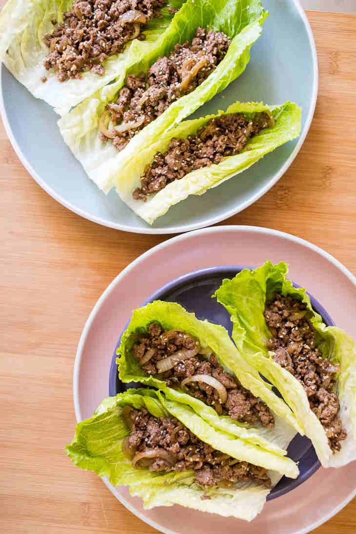 Keto Asian Ground Beef Lettuce Wraps Recipe Lettuce Wrap Recipes Beef Lettuce Wraps Ground Beef Recipes