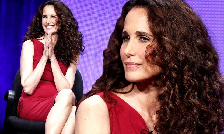 Timeless beauty: Andie MacDowell, 55, defies her age in showstopping red number while promoting new TV show Cedar Cove #Celebrities