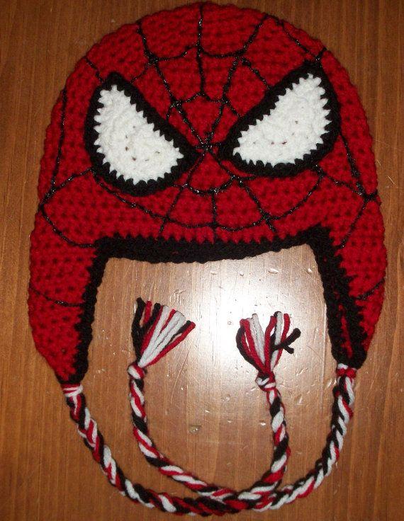 Handmade & Crochet Spiderman Hat - Kids to Adults