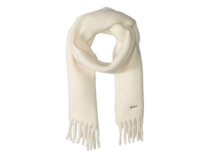Polo Ralph Lauren Double Weft Alpaca Solid Scarf Scarves Cream