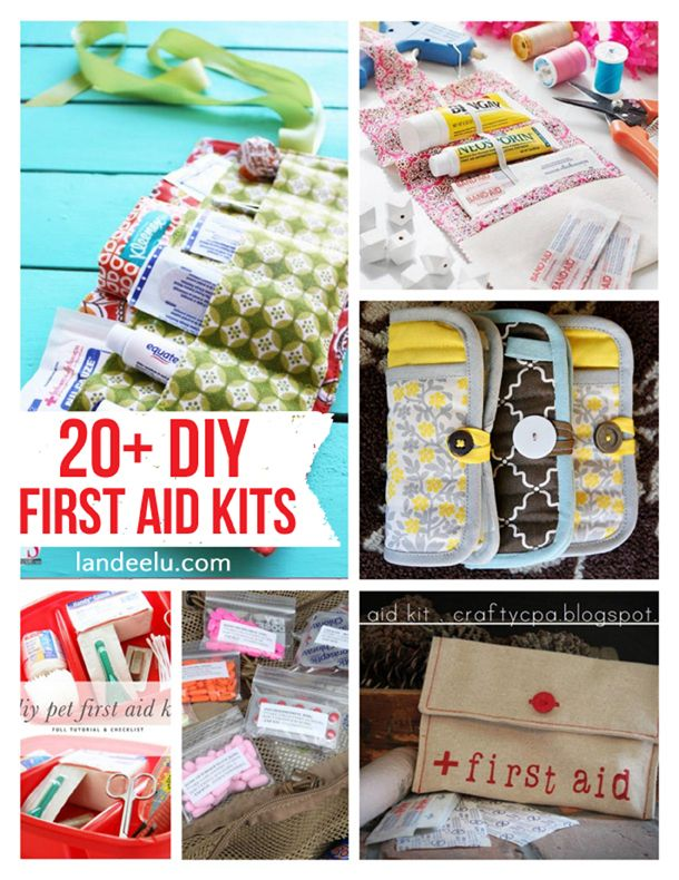 20+ DIY First Aid Kits |   Great ideas to make sure you always have first aid supplies on hand! Keep one in the car, in the house, pretty much anywhere!