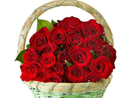roses flowers bunch basket smartly hd red rose basket flower