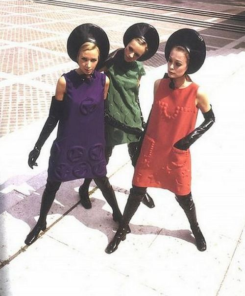 '60s space-age fashion by Pierre Cardin.