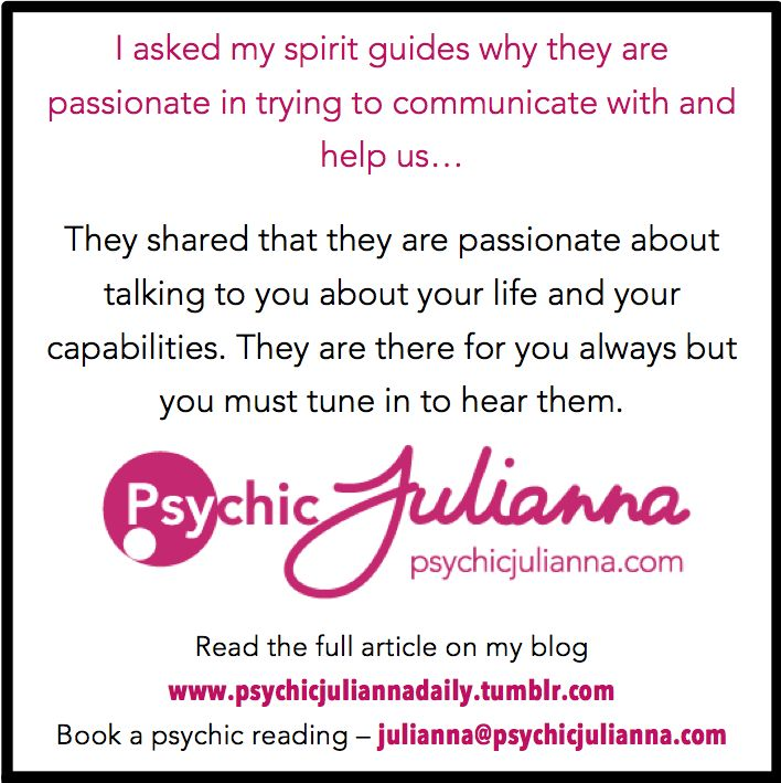 Get help listening to your spirit guides, ask me - www.psychicjulianna.com Xx Psychic Julianna