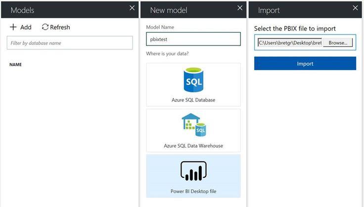 Import Power BI Desktop files into Azure Analysis Services