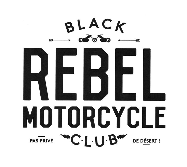 Black Rebel Motorcycle Club logo for Plugged magazine.