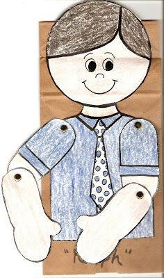 LDS Nursery Color Pages: 4 - I Can Pray To Heavenly Father prayer puppet