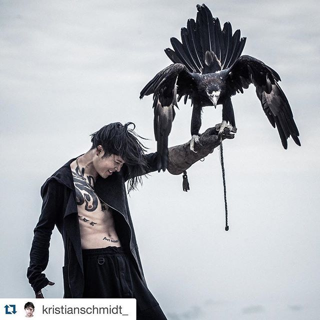 Thank YOU bro. I felt connected with her. What an experience. #Repost @kristianschmidt_ A preview of my shoot with the always amazing @miyavi_ishihara.  This might be one of my favorite shots I have ever taken.  You can feel all the energy by just looking at it:) Thank you again