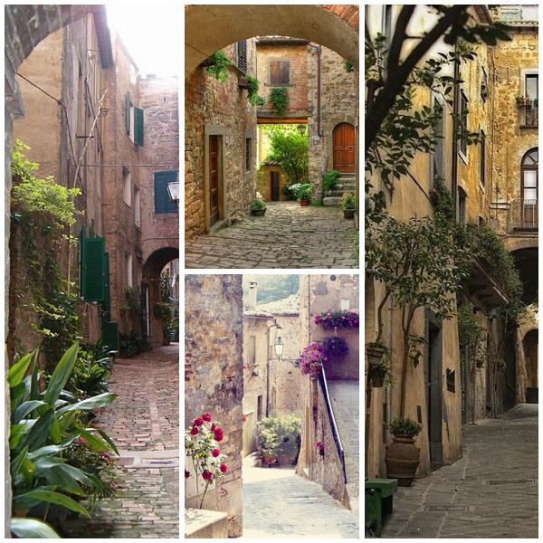 Various photos of places in Italy