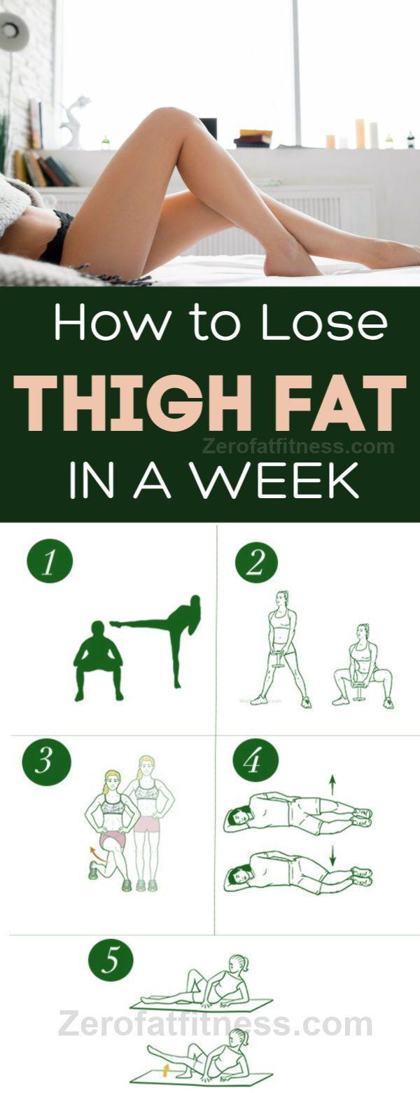 10 besten Übungen, um Oberschenkel Fett schnell in einer Woche zu Hause zu verlieren