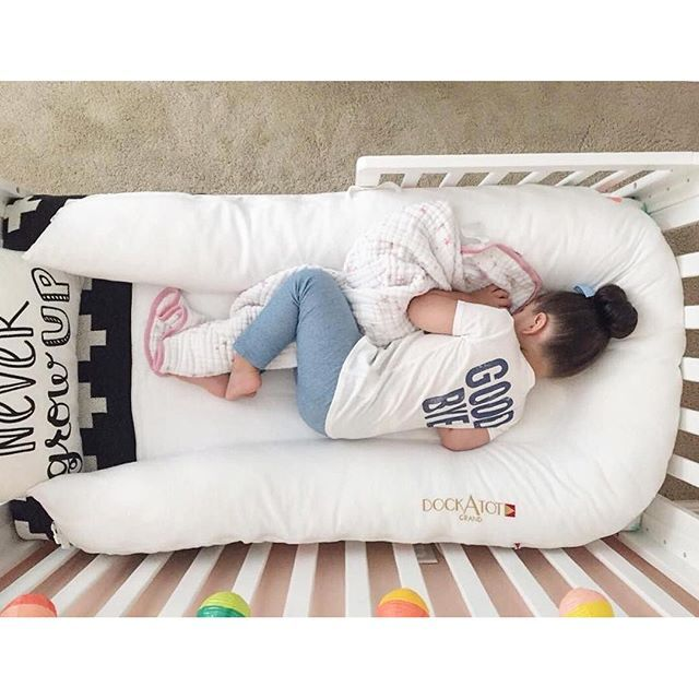 Our grand size DockATot lounger makes for the perfect cozy toddler bed transition. Kids can sleep, snuggle and lounge in it for many years to come. Visit dockatot.com for more info on this must have baby gear.