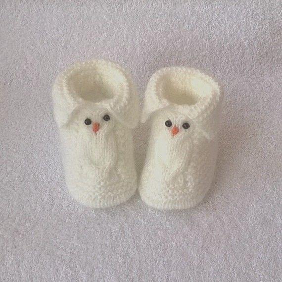 Owls Baby Booties #Handmade #Booties