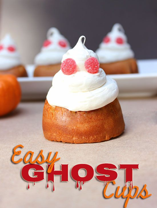 Easy Ghost Cups Recipe #Halloween #Recipes