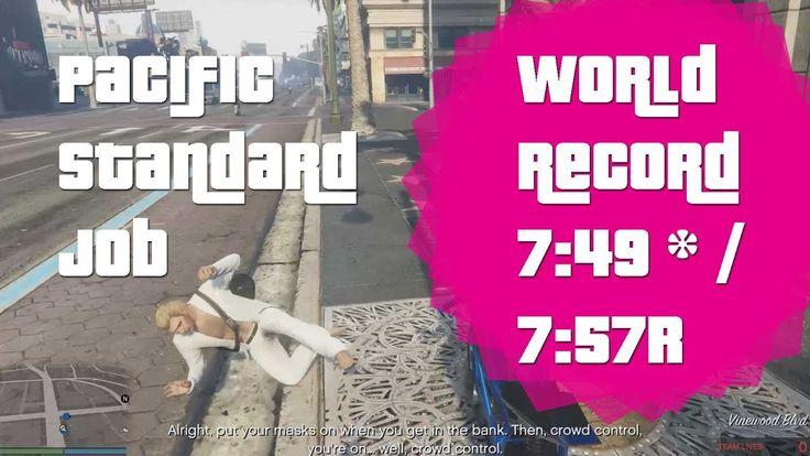 GTA V Online PC - Pacific Standard Job World Record 7:49/ 7:57r #GrandTheftAutoV #GTAV #GTA5 #GrandTheftAuto #GTA #GTAOnline #GrandTheftAuto5 #PS4 #games