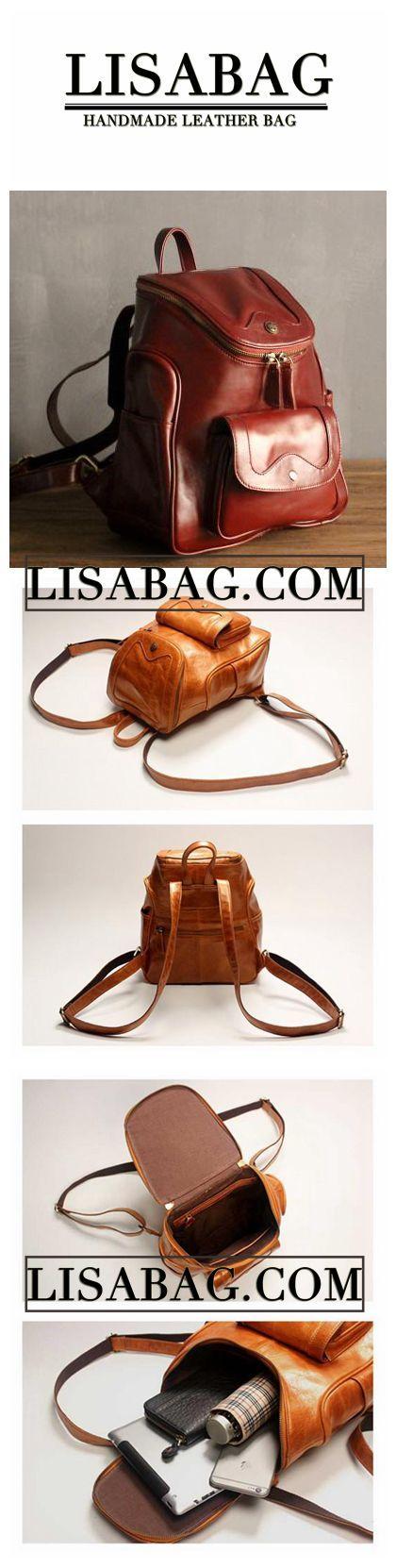 Women Fashion Burgundy Leather Backpack School Backpack Unisex Backpack 8006