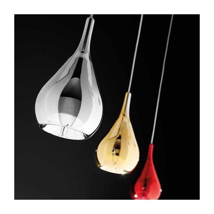 GOCCELampadarioDiffusore in vetro pirex disponibile in cromo (31), oro (34) o rosso (07). Montatura in cromo (31) o oro lucido (38) solo con diffusore oro.Design:TEAM DESIGN