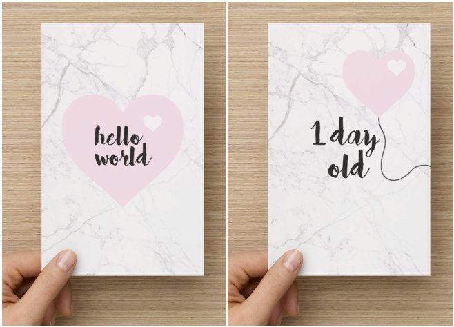 Baby Milestone Cards - Newborn - Baby Shower Gift by MahuikaDesigns on Etsy