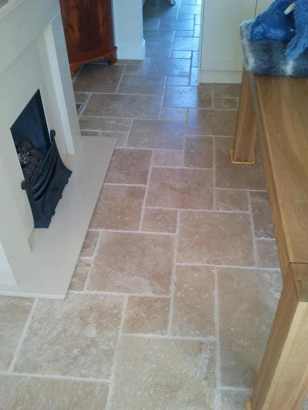 Stunning travertine floor with underfloor heating.