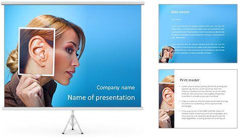 Ear women PowerPoint Template