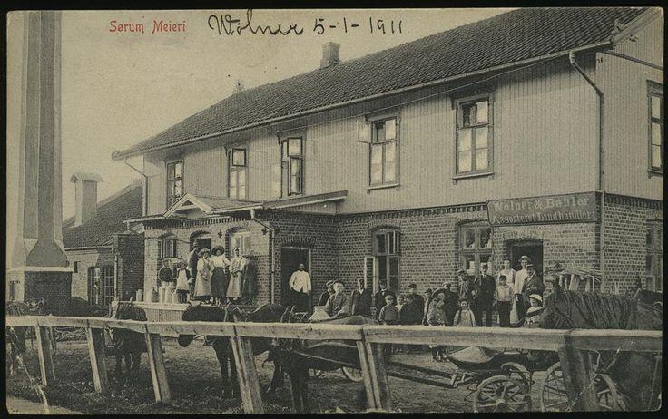 SØRUM MEIERI Lørenfallet i Sørum kommune Akershus fylkeUtg. Norsk Lystryk og Reproduksjonsanstalt Kr. A. Eneret W. & B. Brukt 1911.