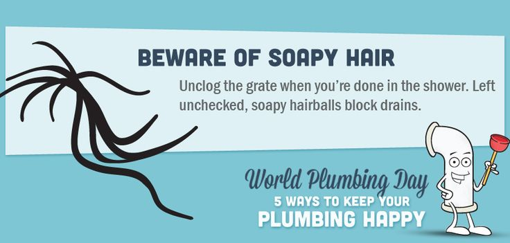Beware of soapy hair #plumbing #tips #tricks #unclogging #drainage #ideas #information #helpful #Home #DIY #information #graphic