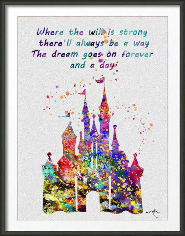 Stong Will to Live Your Dream. Where the will is strong there'll always be a way. The dream goes on forever and a day. As this quote goes, we should always have a strong will to go ahead,you can always appreciate the beautiful scenery on your way to pursue your dream.
