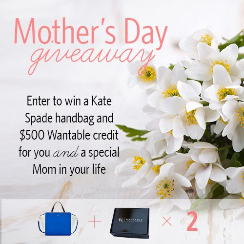 Enter to win the Kate Spade Chelsea Square Hayden Tote and a $500 Wantable credit for you AND a special Mom in your life!