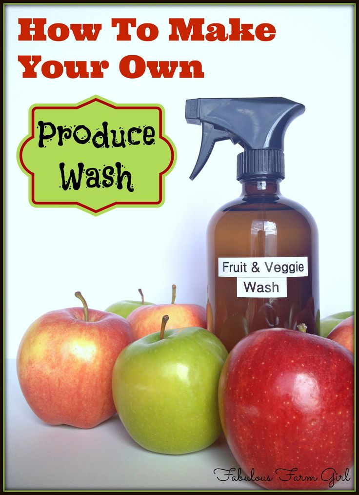 How To Make Your Own Produce Wash by FabulousFarmGirl. Get rid of dirt, bacteria and pesticides by using this homemade fruit and vegetable cleaner. It's cheap, easy and will save you money in the kitchen.