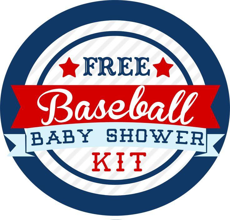 Free Baseball Themed Baby Shower Kit