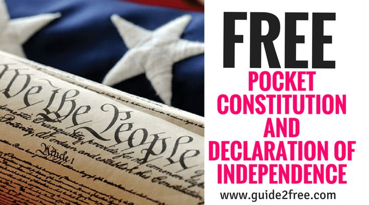 """Get aFREE Pocket Constitution and Declaration of Independence! Fill out the form to get your free copy of America's most important documents.""""We the People of the United States, in Order to form a more perfect Union, establish Justice, insure domestic Tranquility, provide for the common defense, promote the general Welfare, and secure the Blessings of Liberty to ourselves and our Posterity, do ordain and establish this Constitution for the United States of America."""""""