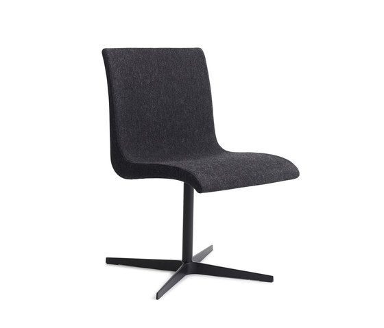 Curves | chair two by Erik Bagger Furniture | Visitors chairs / Side chairs