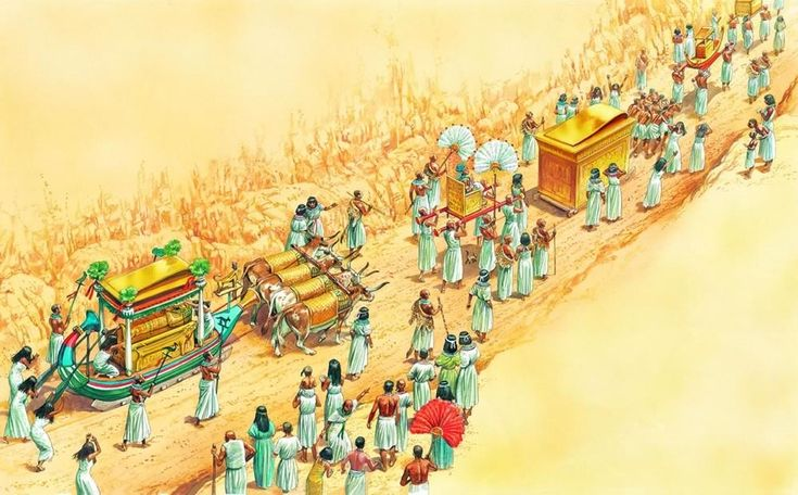 A Pharaoh S Funeral Procession Through The Valley Of The